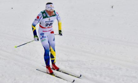 Charlotte Kalla devant les Norvégiennes