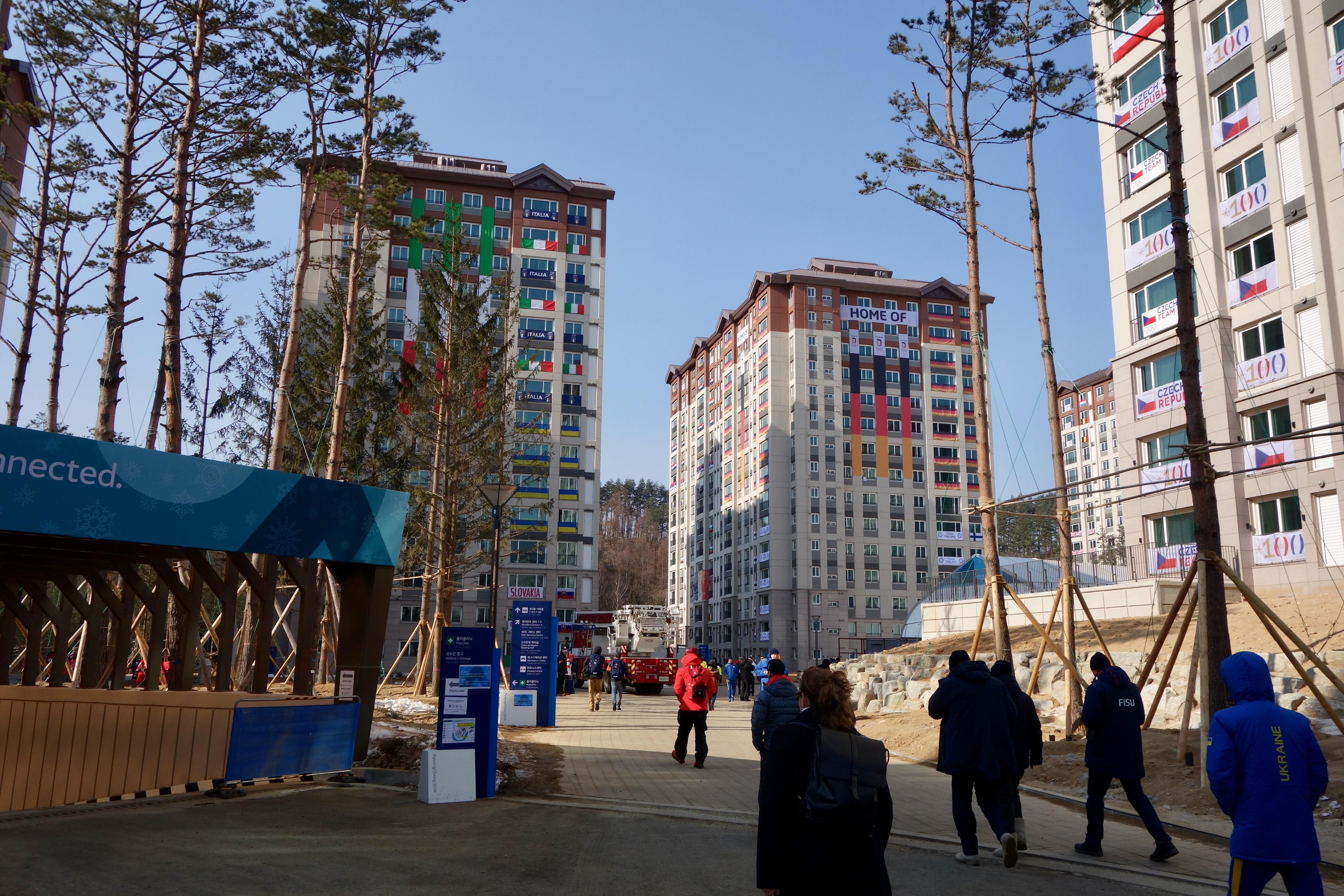 Les immeubles du village olympique.