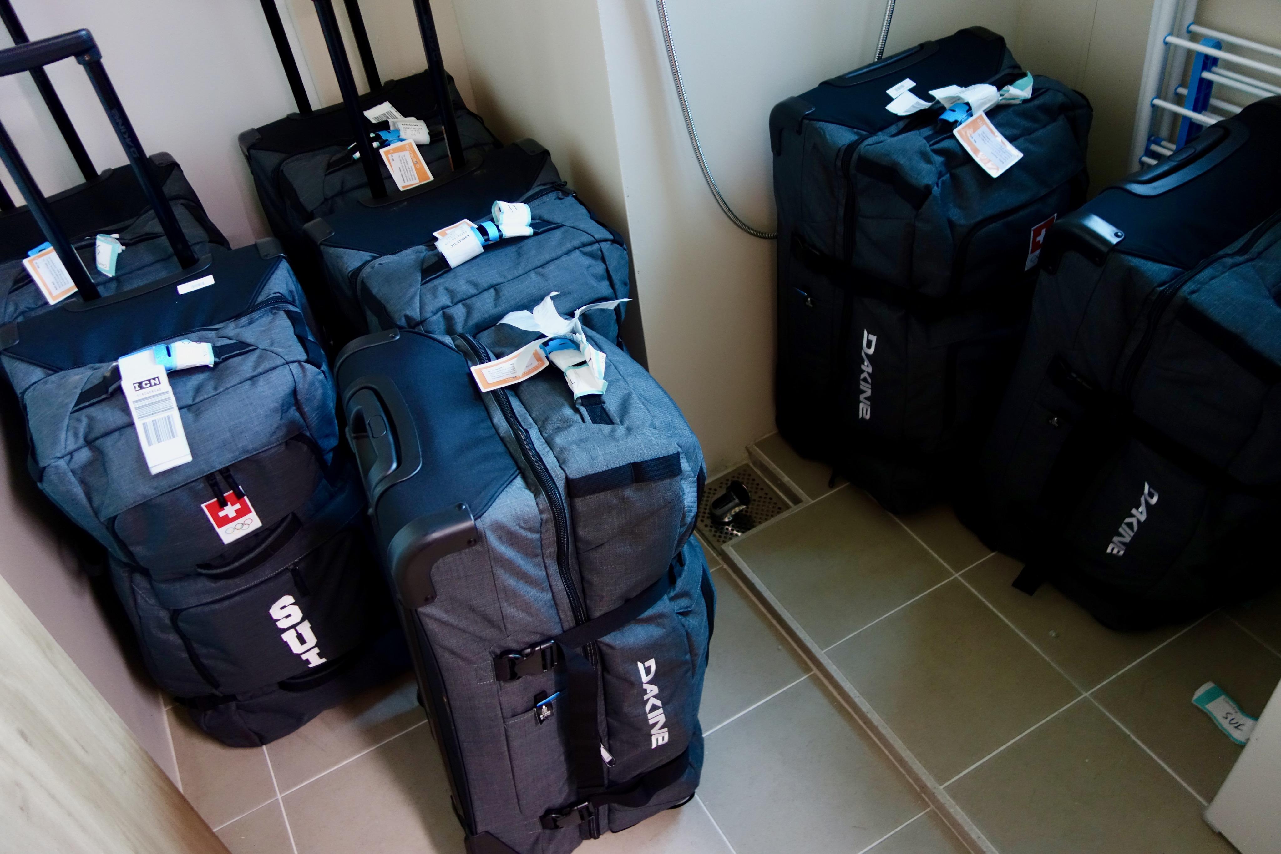 Les bagages attendent leurs propriétaires.