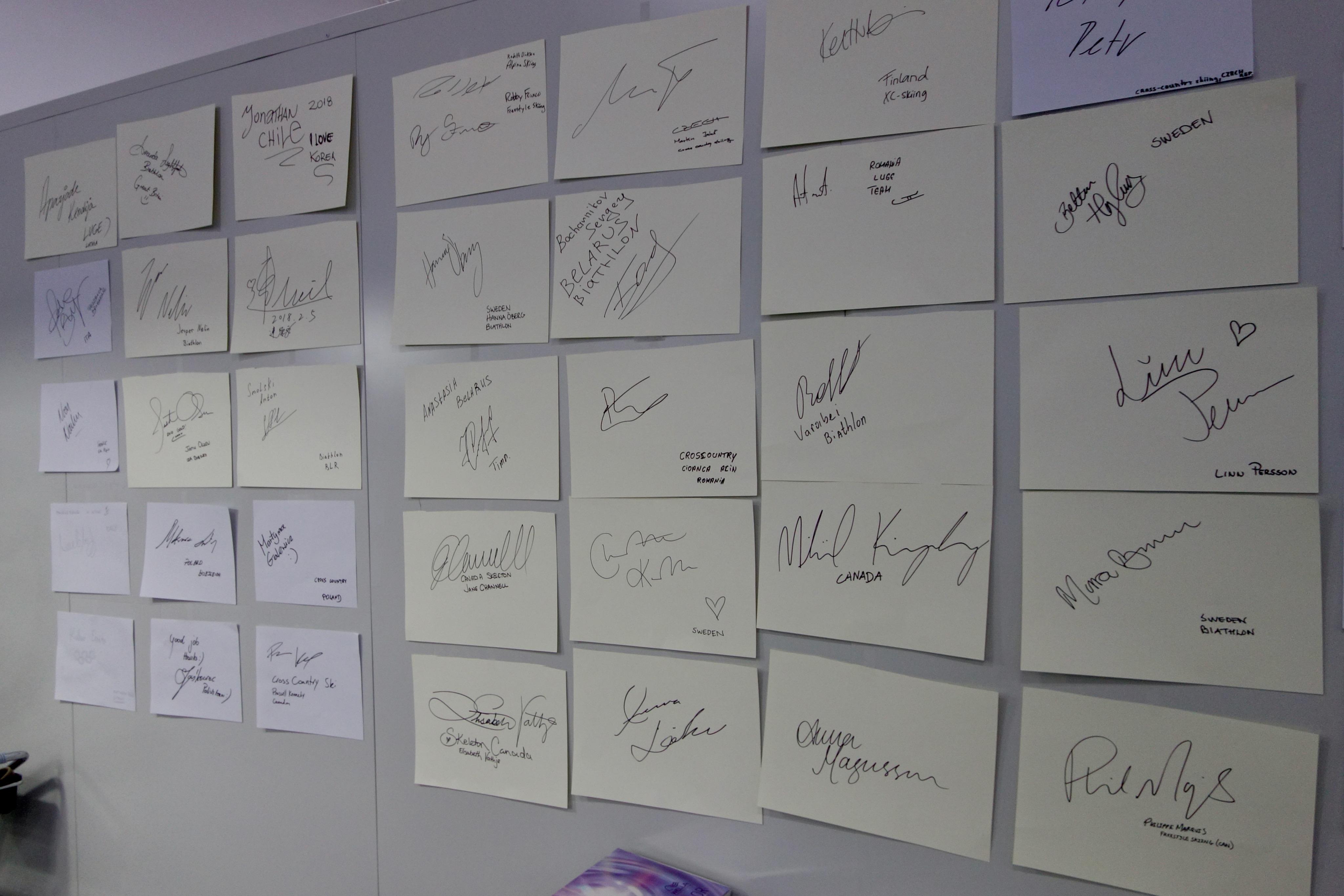 La signature de ceux qui sont passés chez le coiffeur.