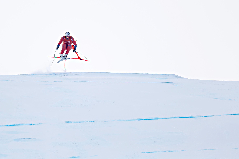 Aksel Lund Svindal, à l'entraînement.