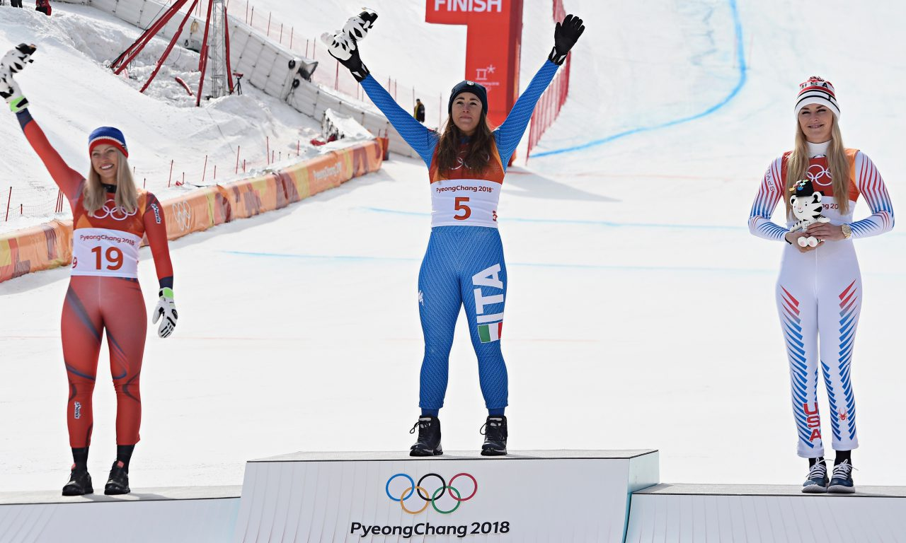 Sofia Goggia s'impose, Lindsey Vonn en bronze