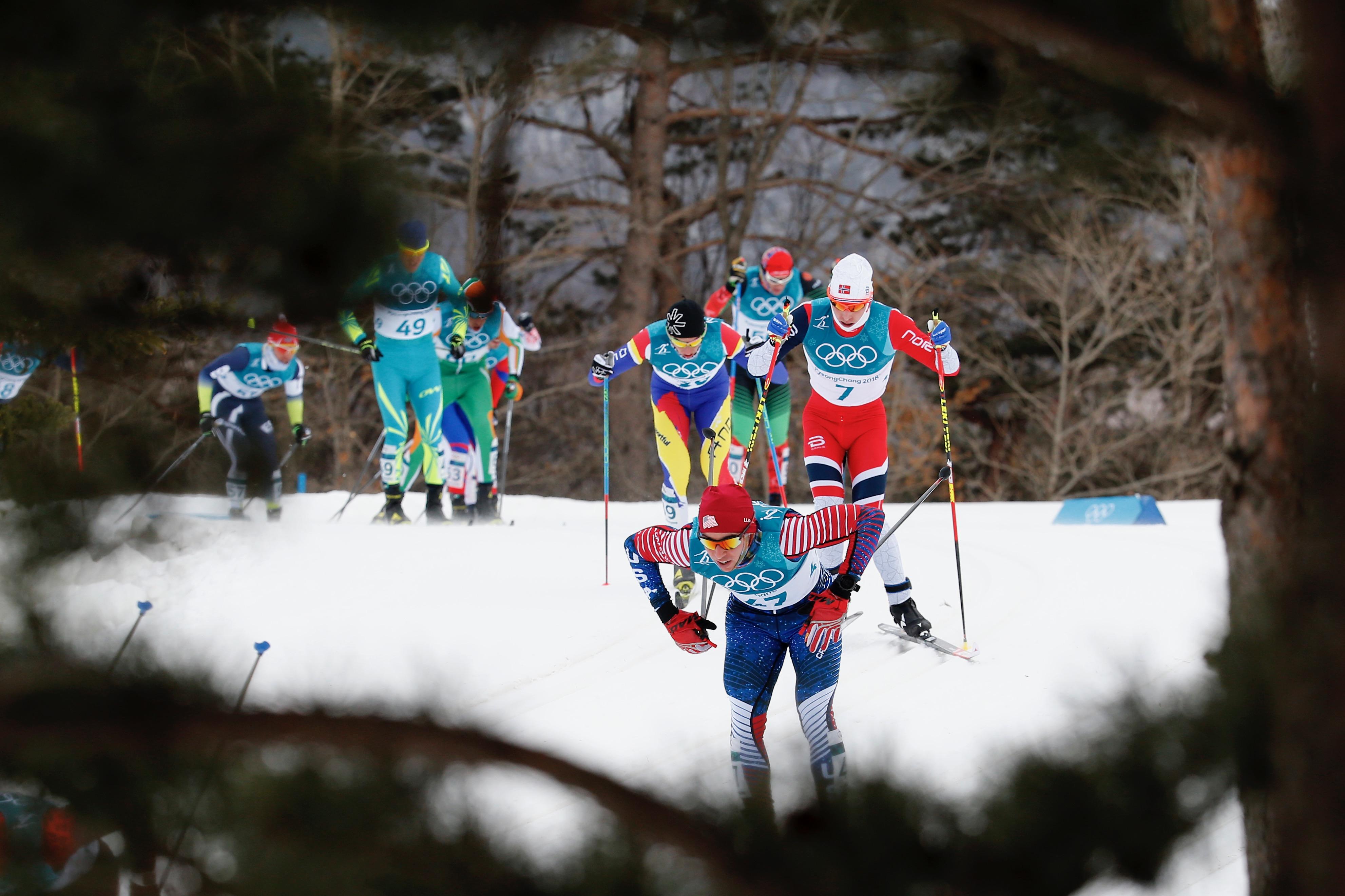Skiathlon.