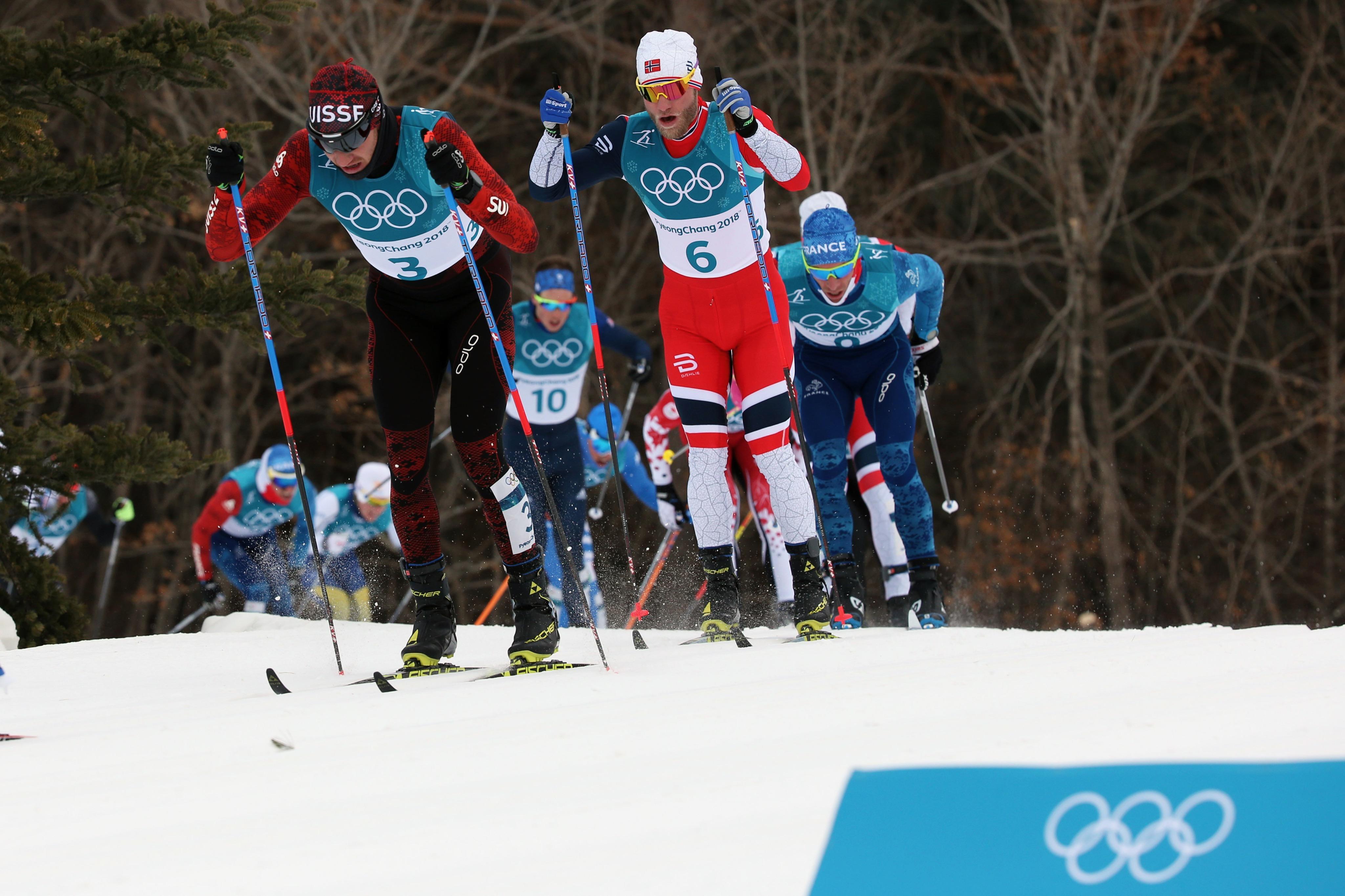 Dario Cologna n'a pas réussi à faire la différence lors du skiathlon.