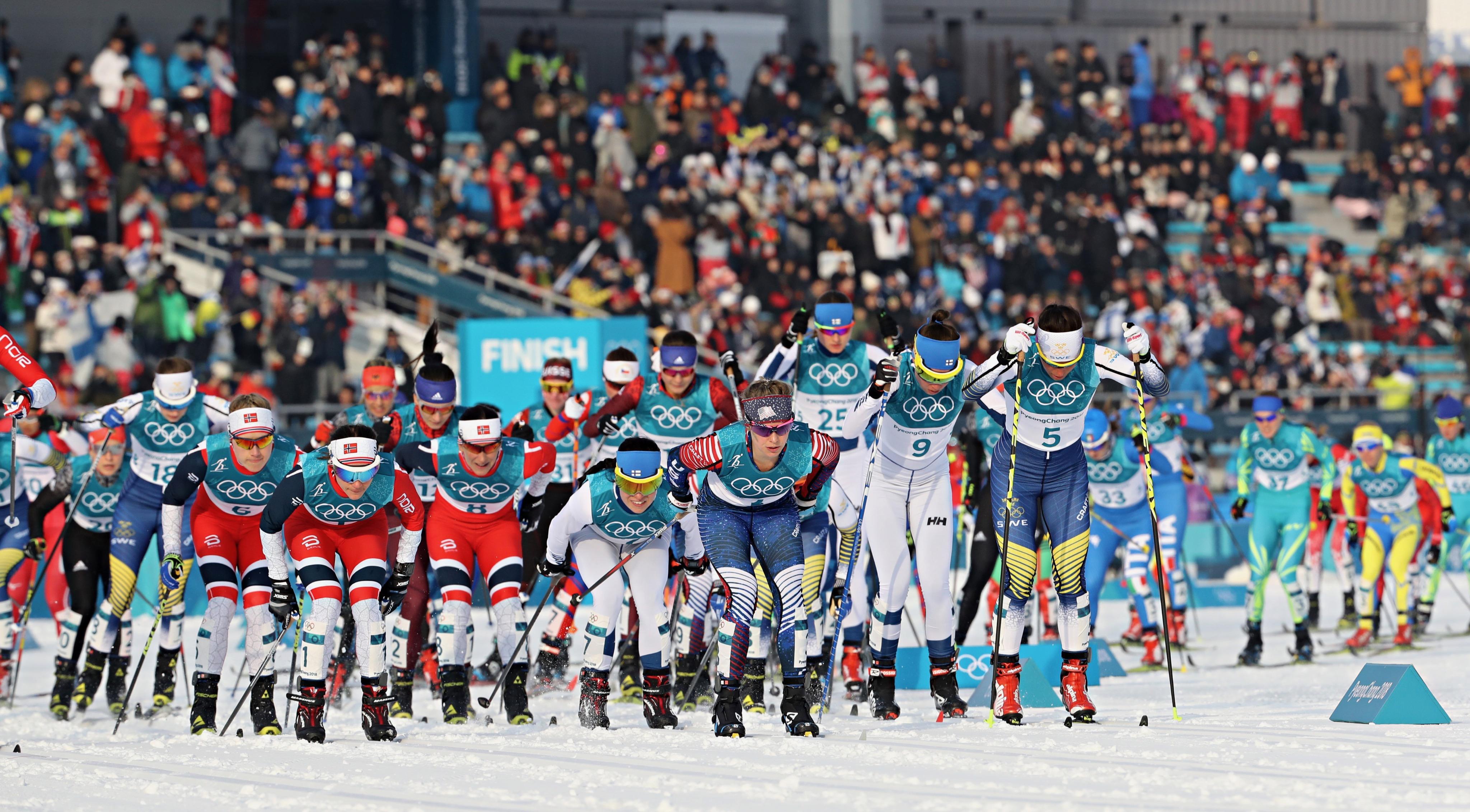 Skiathlon féminin.