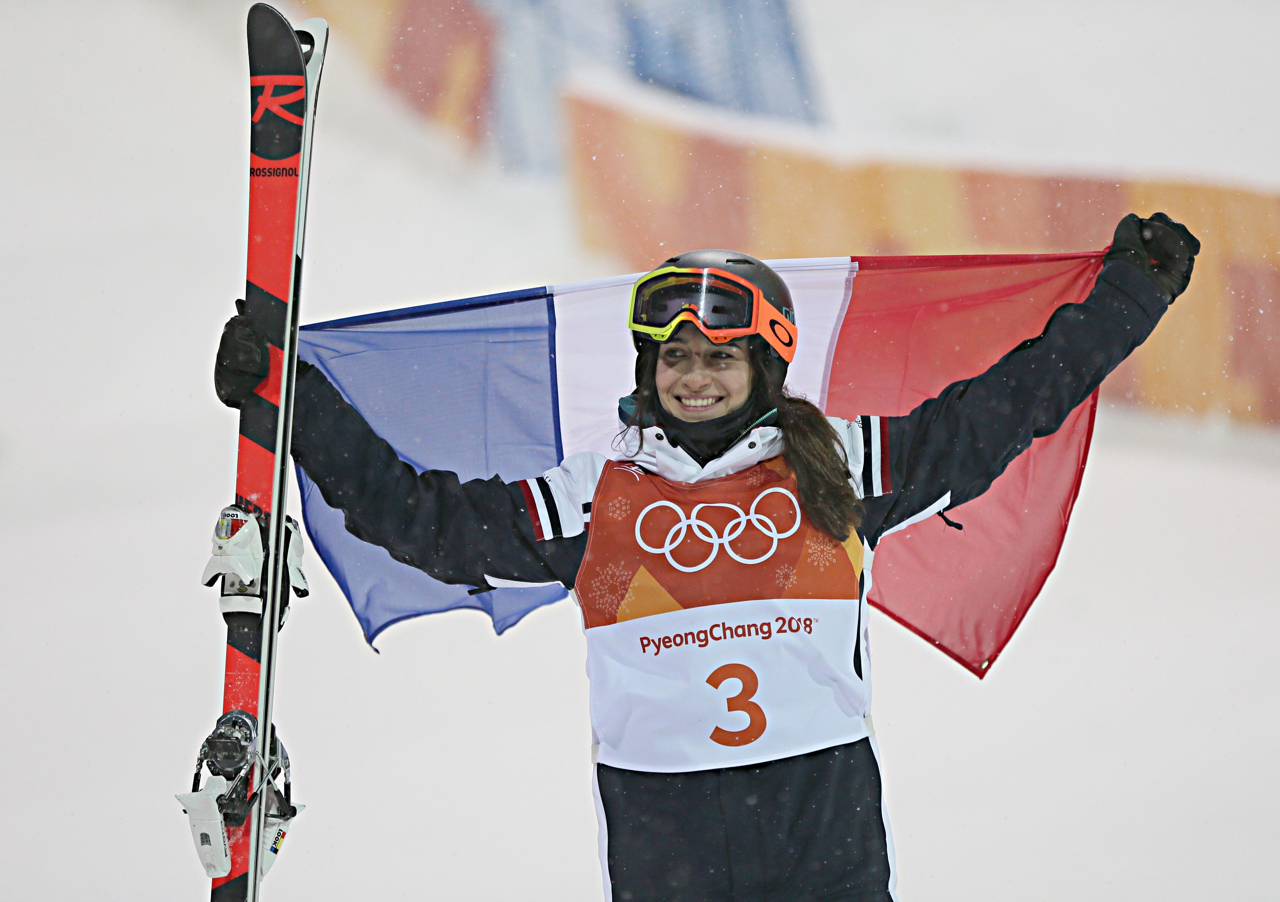 Perrine Laffont, médaille d'or en bosses.