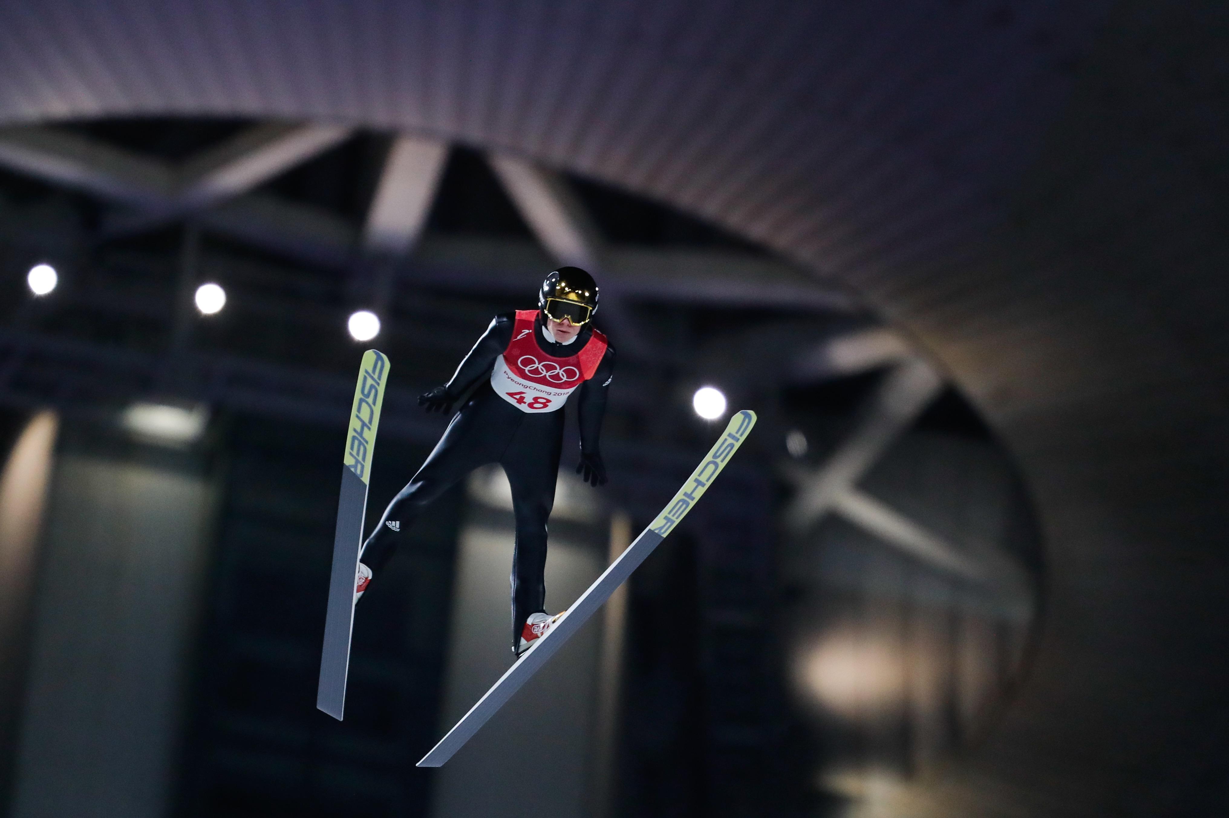 Andreas Wellinger, champion olympique sur le petit tremplin.