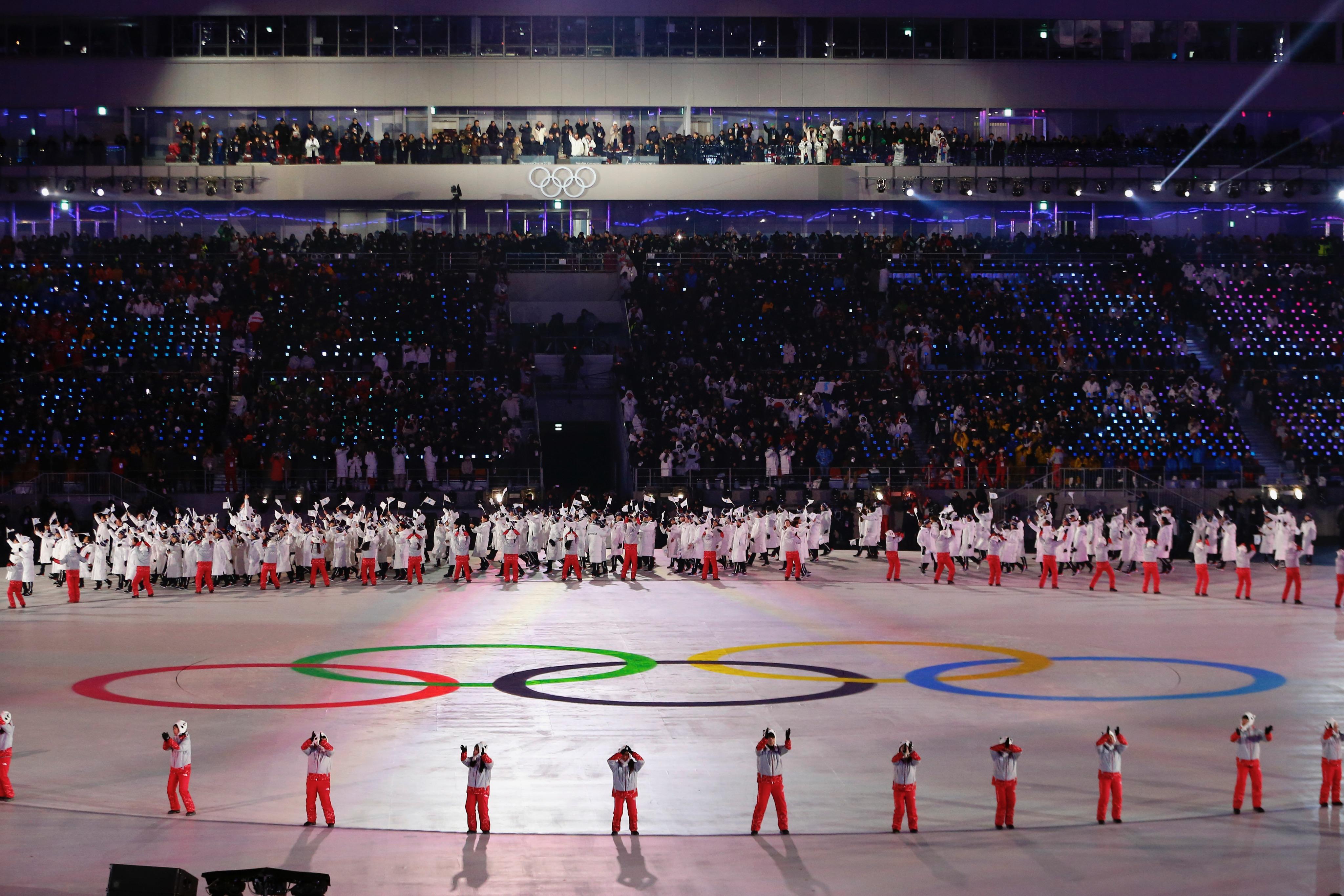 La cérémonie d'ouverture.
