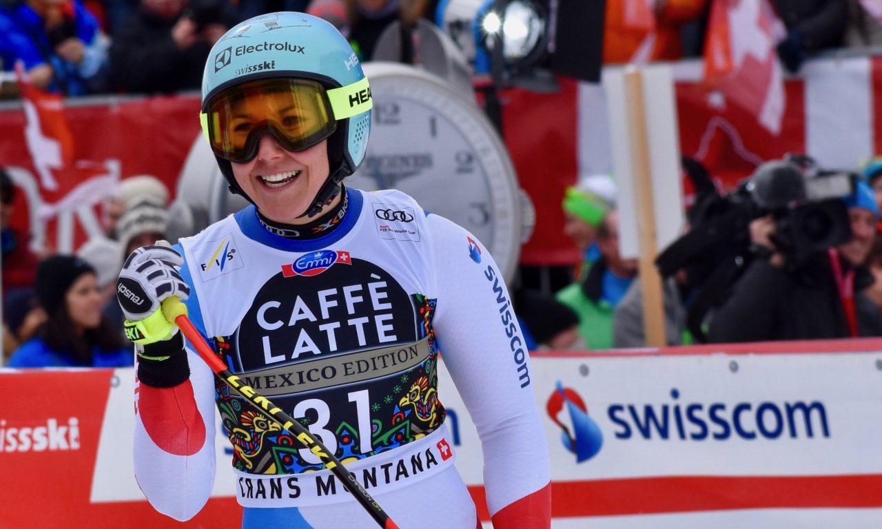 Wendy Holdener sur le podium en… super-G