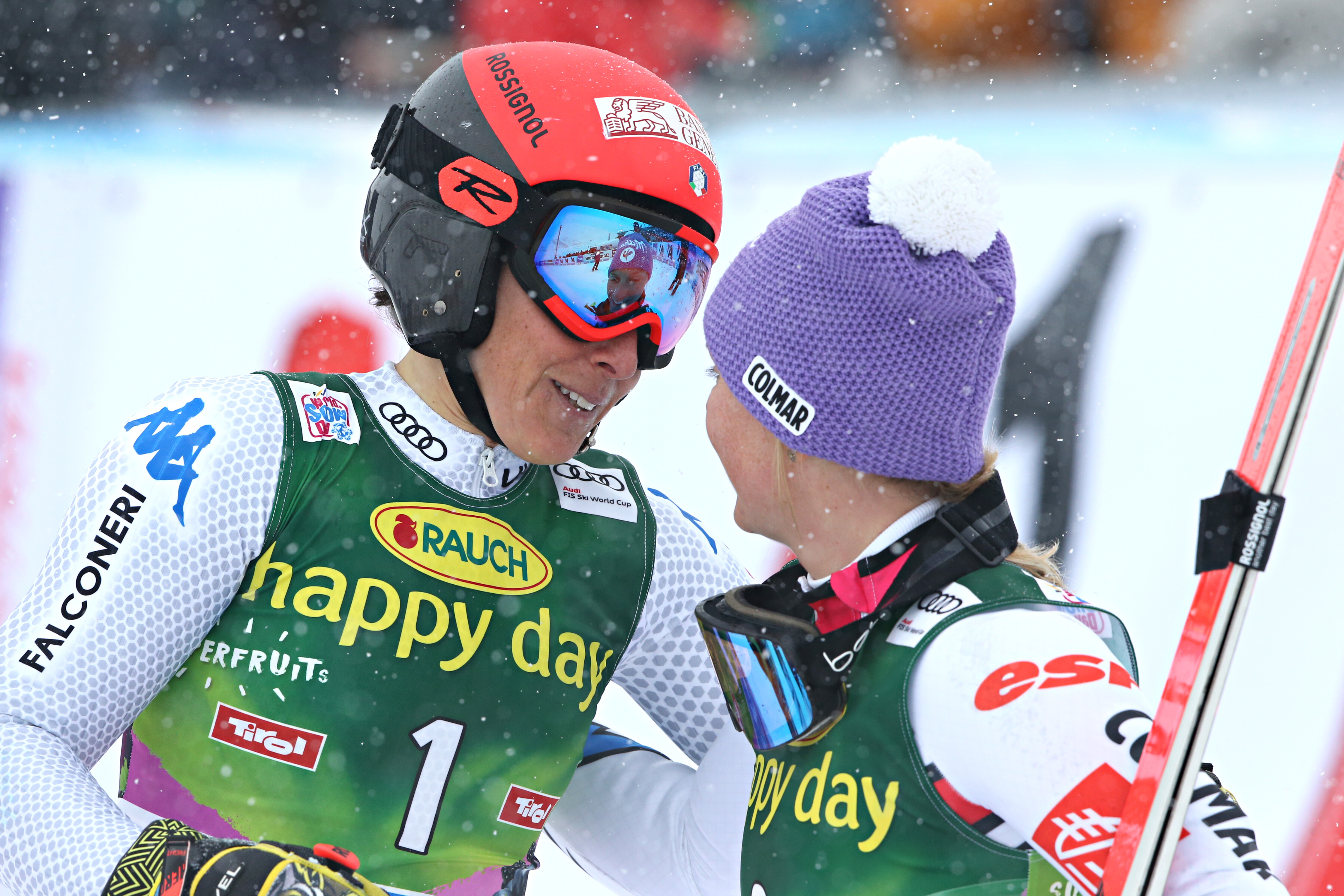 Federica Brignone et Tessa Worley