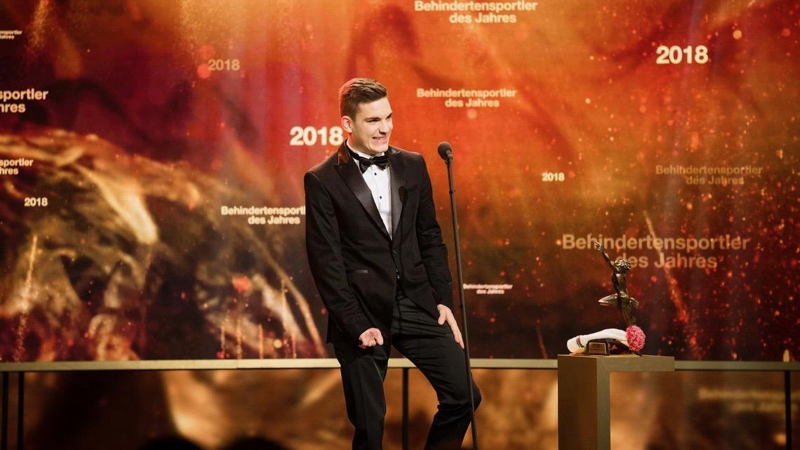 Théo Gmür sportif handicapé suisse de l'année