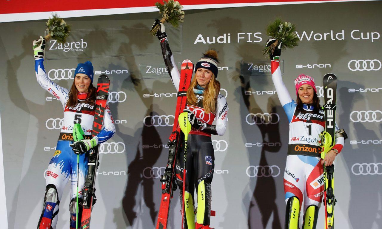 Un record pour Wendy Holdener, 3e à Zagreb