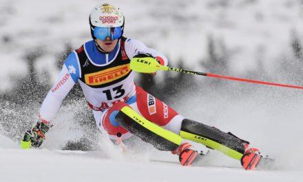 Les débuts de Loïc Meillard en vitesse à Bansko
