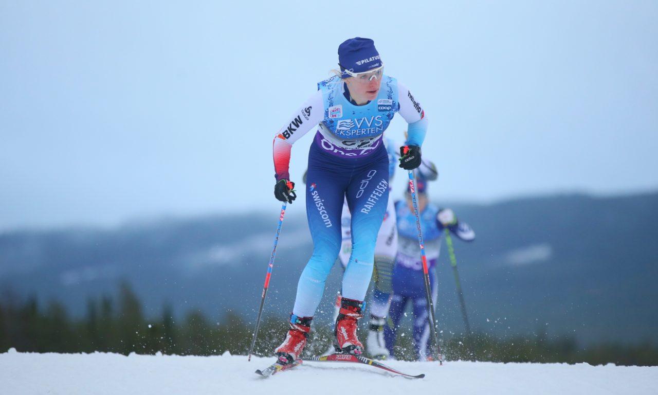 Nadine Fähndrich sur son premier podium