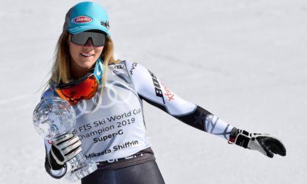 Mikaela Shiffrin aussi sur le toit du monde en super-G