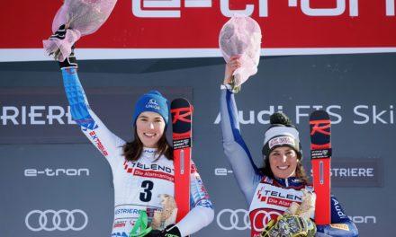 Brignone et Vlhova se partagent la victoire à Sestrières
