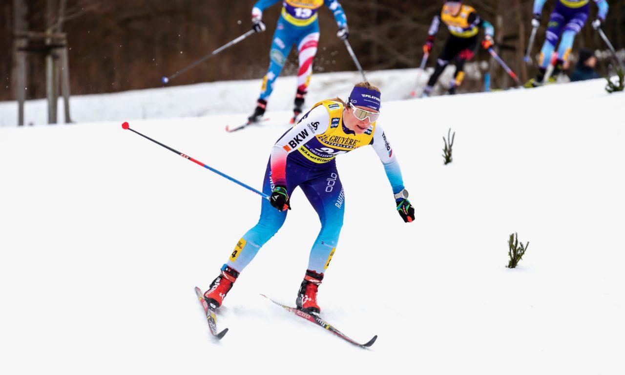 Nadine Fähndrich sur le podium en Norvège
