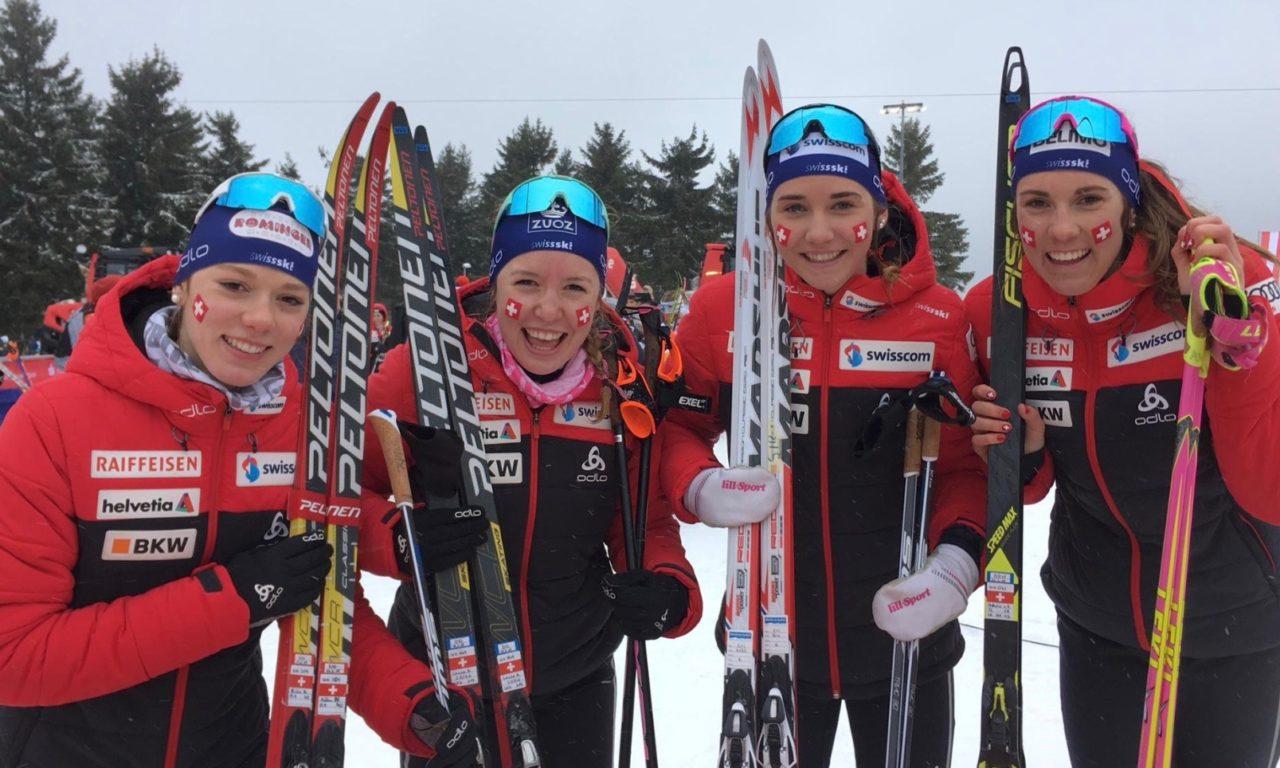 Les Suissesses en or sur le relais des Mondiaux juniors