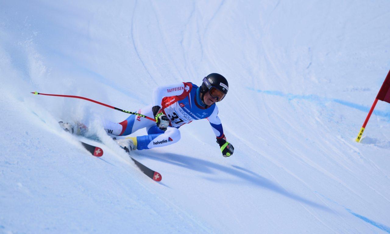Alexis Monney, champion du monde juniors de descente