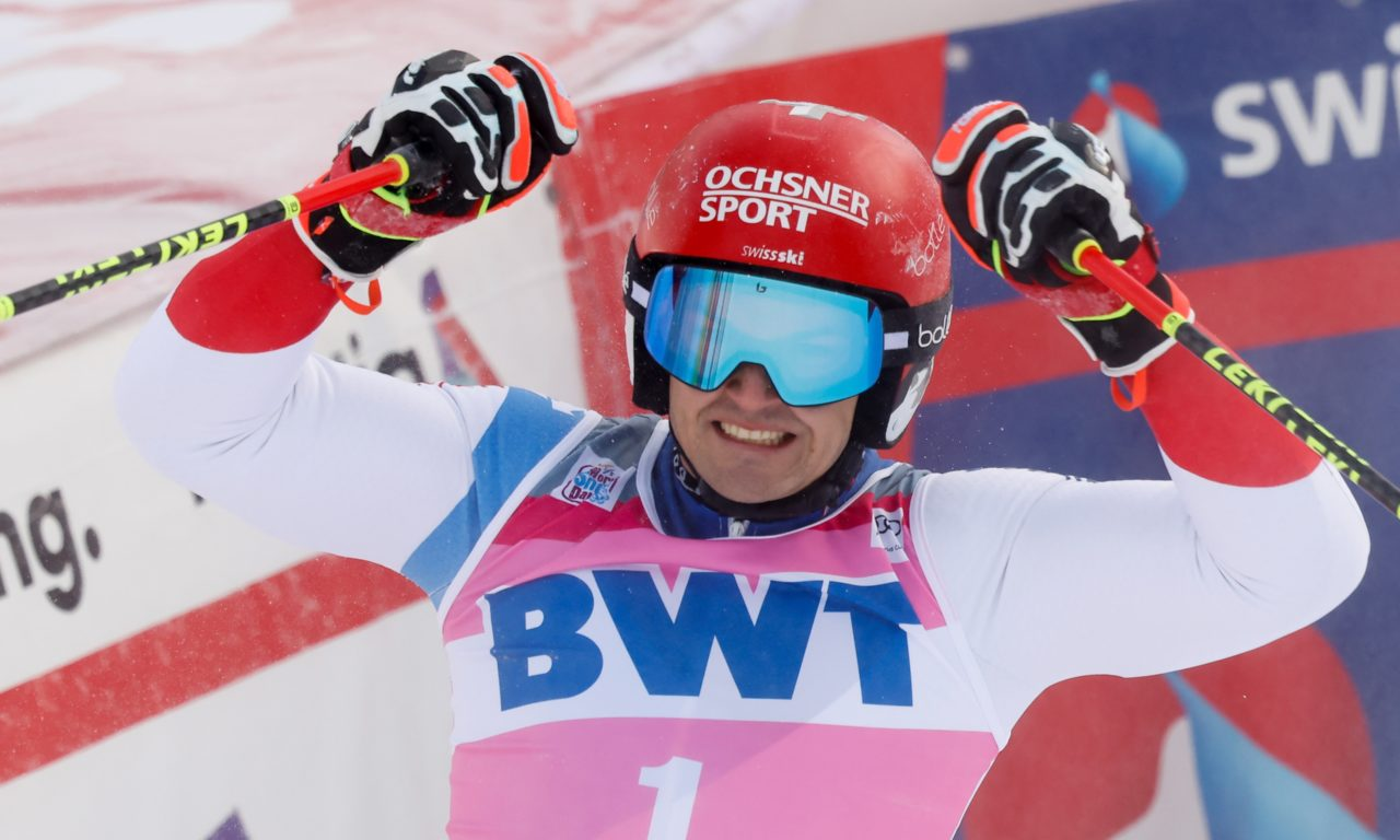 Loïc Meillard tient son premier podium de l'hiver
