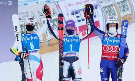 Lara Gut-Behrami de retour sur le podium en géant