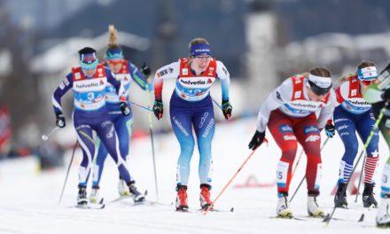 Nadine Fähndrich chute et manque le podium