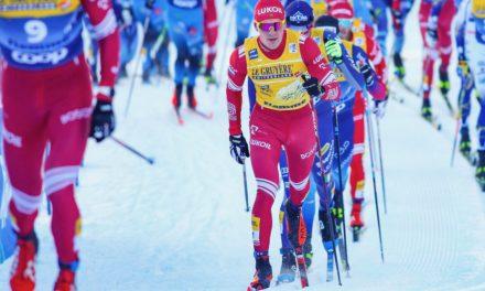 Bolshunov en patron devant les Norvégiens