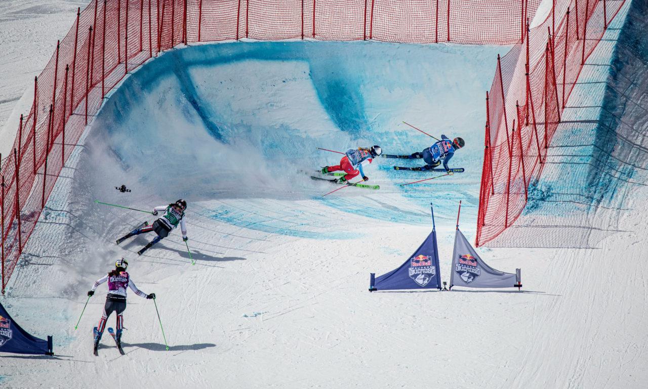 Première réussie pour un skicross pas comme les autres